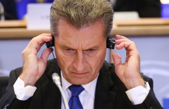 Europees Commissaris Günther Oettinger zegt sorry