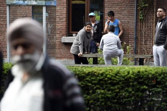 Vluchtelingen vluchten weg uit Wallonië
