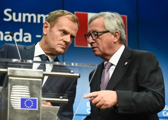 Tusk en Juncker nodigen Trump uit