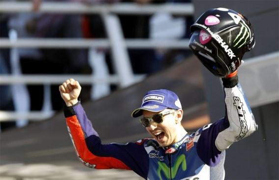 Lorenzo (Yamaha) zegeviert in slotwedstrijd van MotoGP