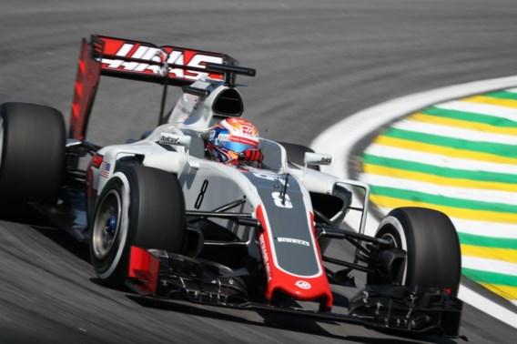 Grosjean crasht al vóór de race in Brazilië, wagen onbestuurbaar