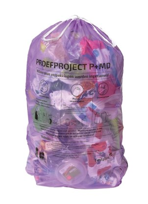 N-VA wil geen roze, maar paarse vuilniszak