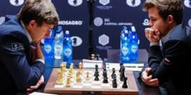 WK schaken: druk Carlsen levert geen winst op