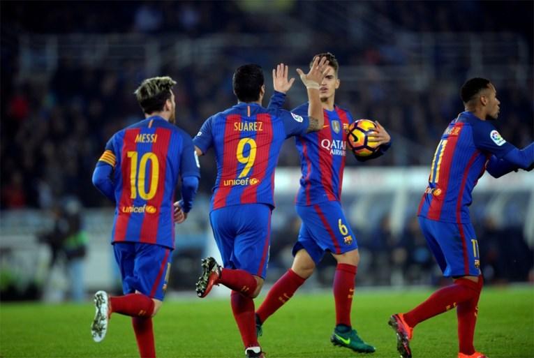 PRIMERA DIVISION. Invaller Carrasco trefzeker, Barça laat punten liggen
