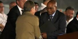 Zuma en Tsipras nemen afscheid van 'verdediger van de onderdrukten' Castro