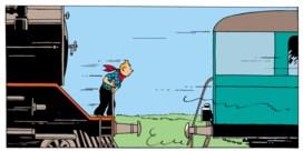 Kuifje neemt de trein