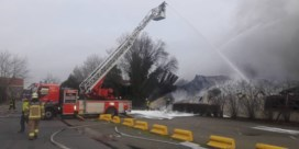 Bedrijf volledig vernield na hevige brand in buurt van E17