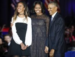 Waar was Obama's dochter Sasha?