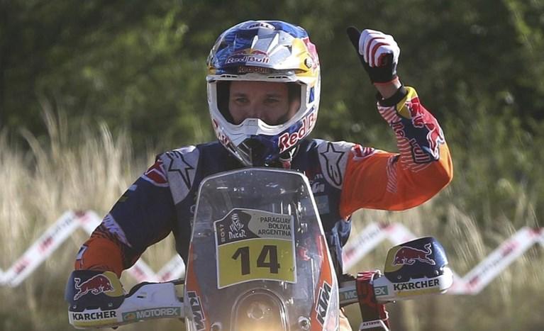 Sunderland (KTM) steekt eindzege Daker bij motorrijders op zak