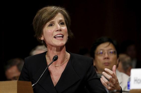 Trump ontslaat waarnemend minister van Justitie na kritiek op inreisverbod