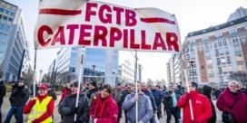 VIDEO. Werknemers Caterpillar betogen in Brussel