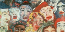 'Portrait of the artist surrounded by masks' (1899)