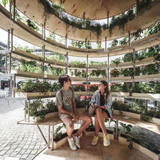 We zijn te verzot op deze bolvormige Ikea-binnentuin