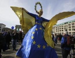 VIDEO. Pro-Europese betogers vieren Europa