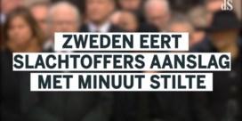 Oorverdovende minuut stilte voor slachtoffers aanslag Zweden