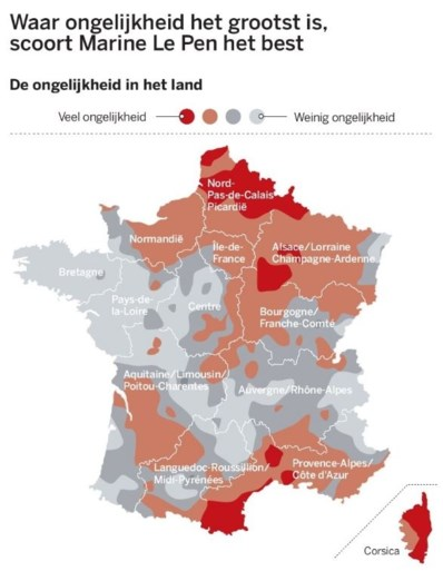 Zo stemden de Fransen