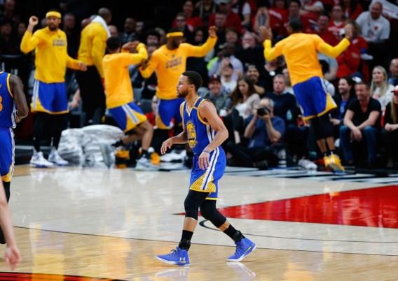 Golden State Warriors met droge 4-0 naar tweede ronde van play-offs