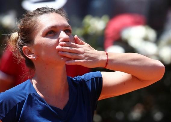 Simona Halep eerst finaliste in Rome