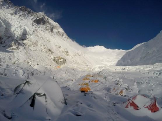 Stuk van Mount Everest afgebrokkeld