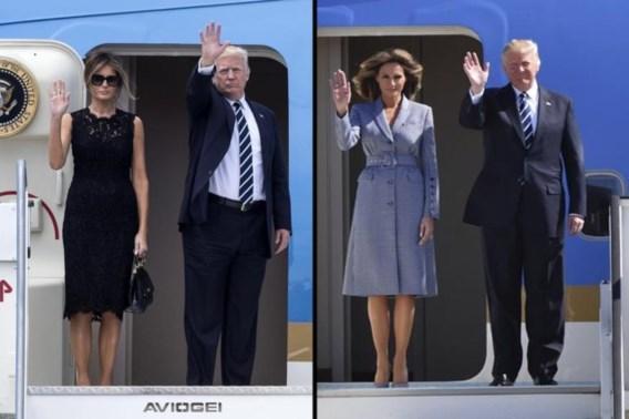 Melania Trump verandert van outfit in volle vlucht naar Brussel