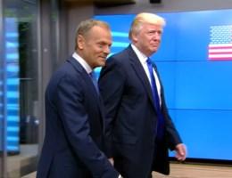 Trump bij Europa: Donald ontmoet Donald