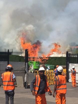 Brand uitgebroken op terrein van Wimbledon