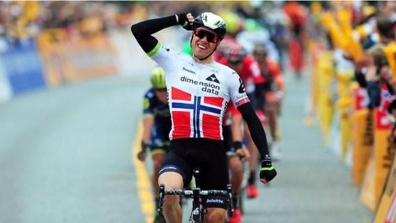 Boasson Hagen snelt naar zege in eigen land, Van Gestel blijft leider