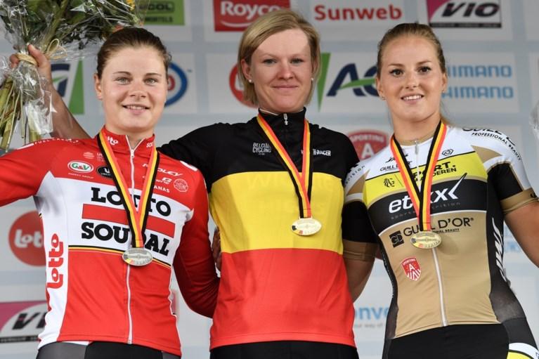 Jolien D'hoore kroont zich opnieuw tot Belgisch kampioen bij de vrouwen na sprint met kopgroep