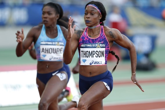 Jamaicaanse Elaine Thompson wint 100m Diamond League Parijs in toptijd
