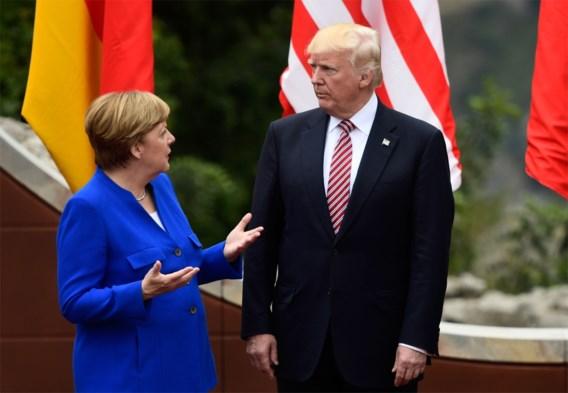 Trump en Merkel bespreken klimaatproblematiek