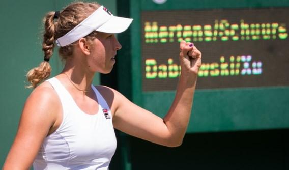 Elise Mertens kent wel succes in het dubbelspel en bereikt tweede ronde op Wimbledon