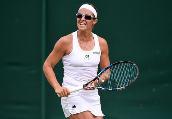 Kirsten Flipkens staat op Wimbledon ook in tweede ronde dubbelspel