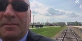 Amerikaans politicus start twitterrel met video over Auschwitz