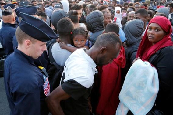 Vluchtelingenkamp in Parijs ontruimd