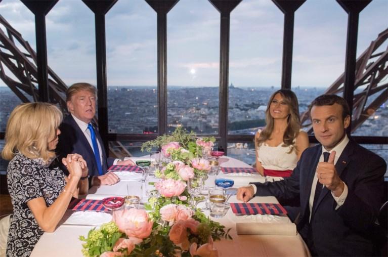 Trump krijgt kritiek voor 'enge' opmerking aan Brigitte Macron
