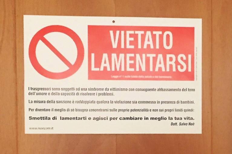 Paus is duidelijk: 'Verboden te klagen'