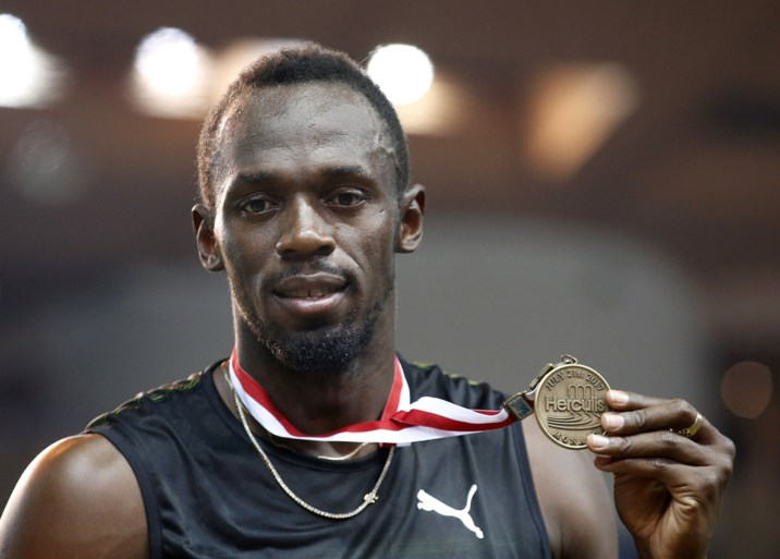 Zuinige zege voor Bolt in Monaco, die meteen wel onder de tien seconden duikt op de 100 meter