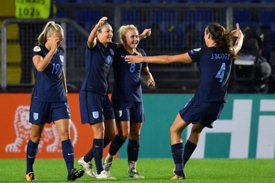 Engelse vrouwen blijven stevig op kop in groep D op EK voetbal