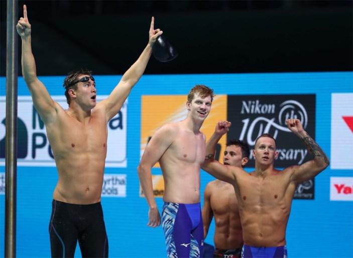 Amerikanen pakken wereldtitel op 4x100m vrije slag