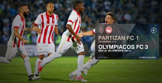 Vadis Odjidja en Olympiakos met één been in laatste voorronde van Champions League