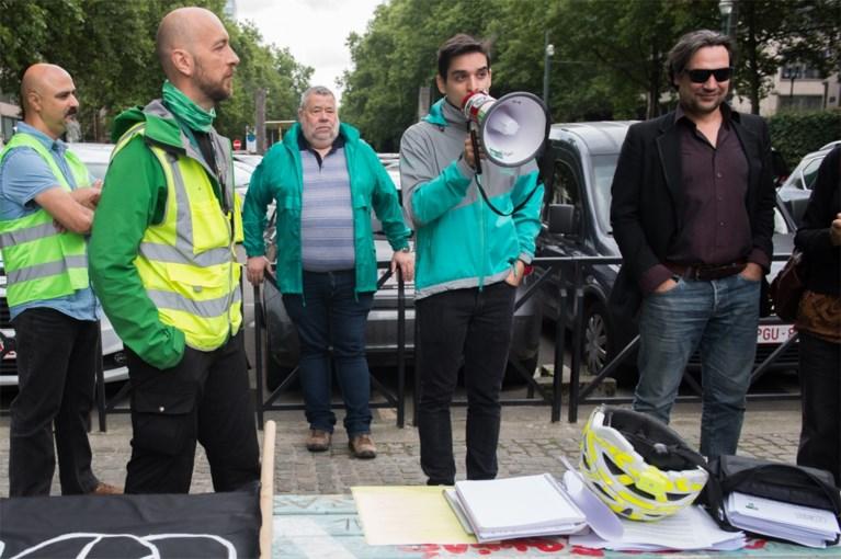 Deliveroo-koeriers protesteren: 'Het lijkt wel op de koolmijnen'