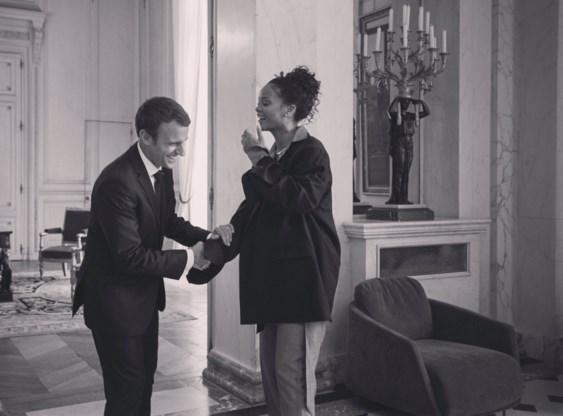 Waarom Rihanna president Macron bezoekt