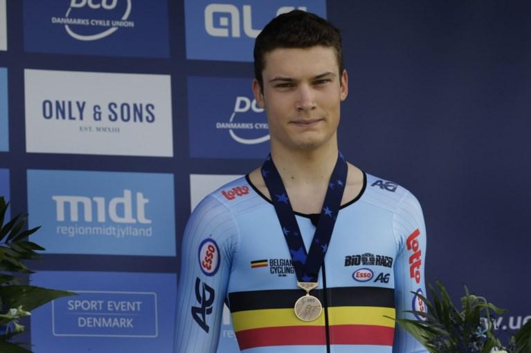 Sébastien Grignard haalt brons in tijdrit voor junioren op EK wielrennen