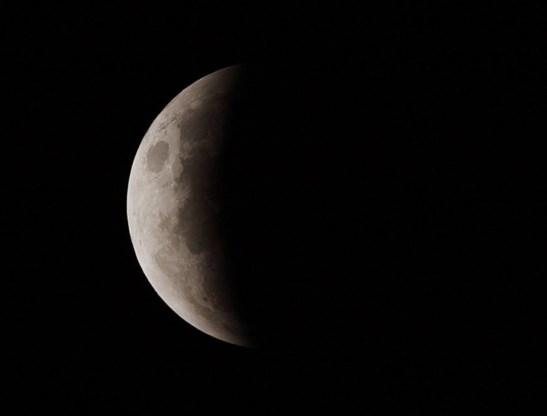 Straks maansverduistering te zien