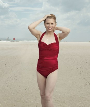 Transgender Chelsea Manning in badpak in Vogue