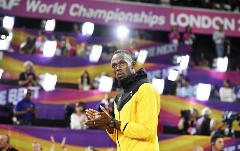 Geen goud voor Bolt, wel een stukje van de piste waar hij olympisch kampioen werd