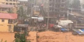 Modderstroom sleurt 180 mensen de dood in in Sierra Leone