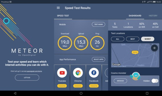 Test je (mobiele) internetverbinding voor al je favoriete apps