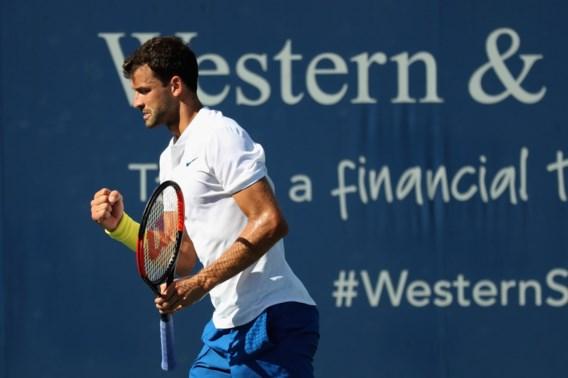 Grigor Dimitrov heeft op ATP Cincinnati als eerste ticket voor halve finales beet