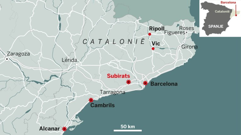 Dader aanslag Barcelona doodgeschoten: 'Terreurcel opgerold'